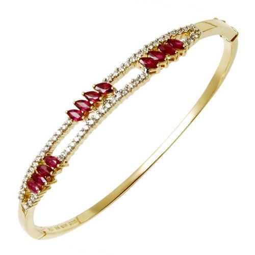 Sleek Ruby Half Bangle Manufacturer From India
