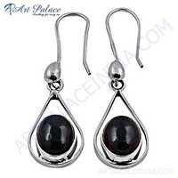 Delicate Tourmaline Gemstone Silver Earrings