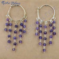 Wholesale Various Styles Amethyst Gemstone Silver Earrings, 925 Sterling Silver Jewelry