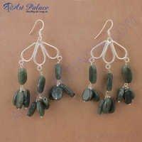Rady to Wear labradorite Gemstone Silver Earrings, 925 Sterling Silver Jewelry