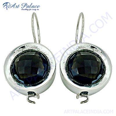 Dazzling Black Onyx Gemstone Silver Earrings
