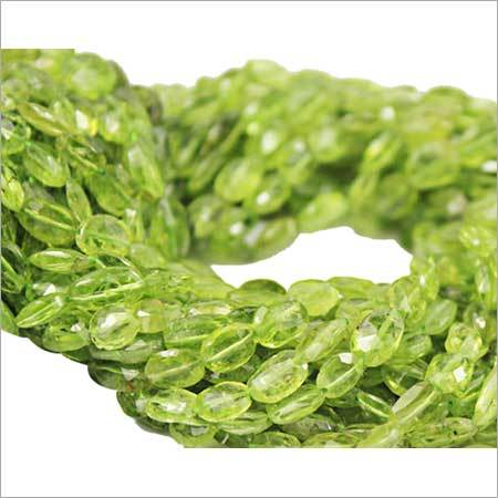 Natural Peridot Faceted  Beads