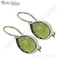 New Extra Shine Citrine Gemstone Silver Earrings