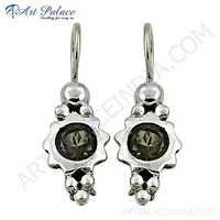 Rady to Wear Smokey Quartz Gemstone Silver Earrings
