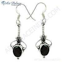 Truly Designer Garnet Gemstone Silver Earrings
