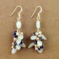 925 Sterling Silver Jewelry, Trendy Multi Gemstone Silver Earrings