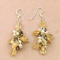 Girls Fashionable Multi Gemstone Silver Earrings, 925 Sterling SIlver Jewelry