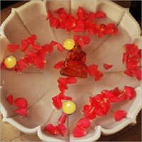 Flower Shape Marble Bowl