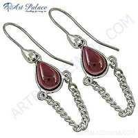 Fabulous Tourmaline Gemstone Stylish Silver Earrings