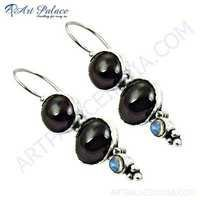 HOT!!! Luxury Garnet & Labradorite Gemstone Silver Earrings