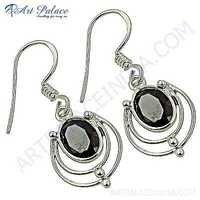 New Arrival Garnet Gemstone Silver Earrings
