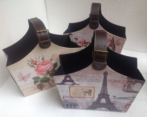 Designer leather Basket