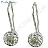 Classic Cubic Zirconia Sterling Silver Trendy Earrings
