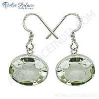 Charming Crystal Gemstone Silver Earrings