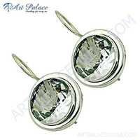 Dazzling Crystal Gemstone Silver Earrings