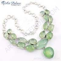 Fashion Accessories German Silver Necklace Jewelry With Prenite