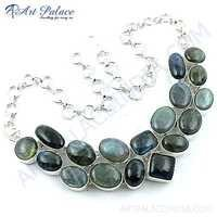 Glamour Graceful German Silver Necklace Jewellery With Labradorite