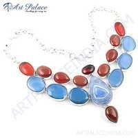 Various Styles Multi Stone German Silver Necklace Jewellery