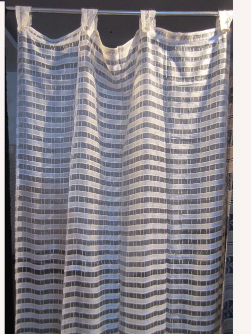Silk Stripe Transparent Curtain
