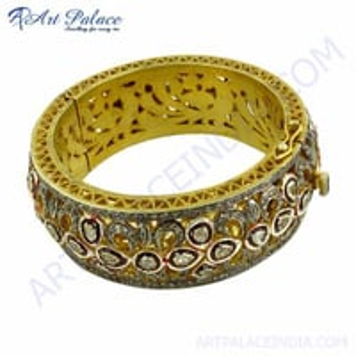 Gold Plated Diamond Victorian Bangles