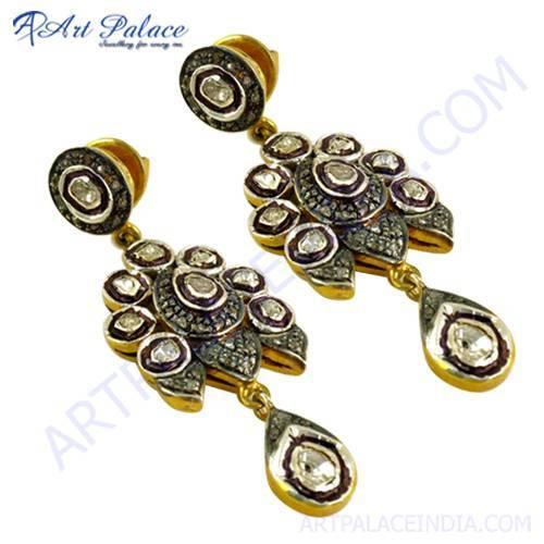 Bridal Wear Diamond Earrings