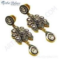 Bridal Wear Diamond Earrings