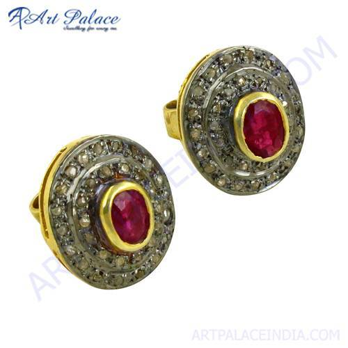 Gold Plated Silver Stud Earrings
