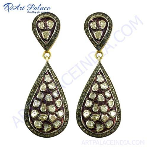 Wedding Wear Victorian Diamond Earrings