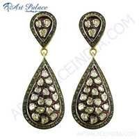Wedding Wear Victorian Diamond Earrings