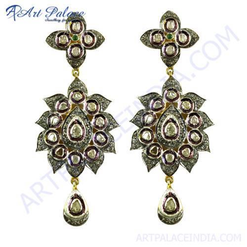Victorian Diamond Ruby Earring