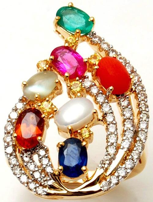 Multicolor Precious Gemstone Birthstone Navratna R