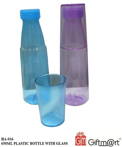 650 ML Plastic Bottle With Glass