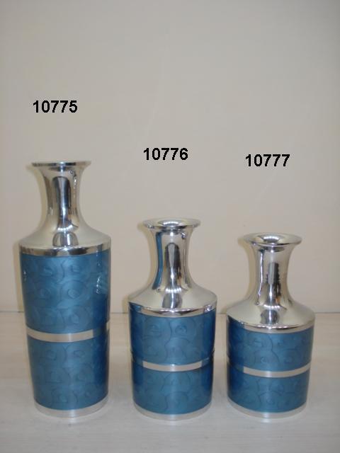 Blue Enameled Flower Vase