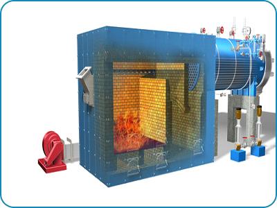 External Furnace Fired Single Pass Dryback Boiler