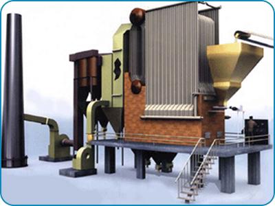 Water Tube Type Bi Drum FBC Boiler