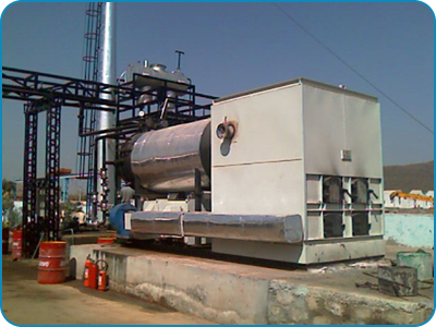 Horizontal Three Pass Manual Fired Heater