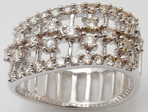 designer band diamond ring, stylish diamond ring j