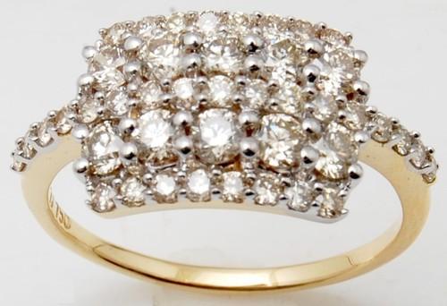 Broad Top Diamond Ring