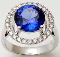 eternity  wedding, blue stone tanzanite white jewe