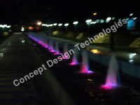 Outdoor Lighted Fountains