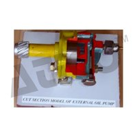 Cut Section Model Of Oil Pump External