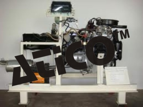 Four Stroke Petrol Engine Setup in Working Condition
