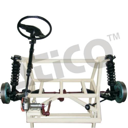 Cut Section Model Of Steering Gear Box Working
