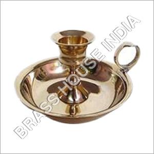 Modern Brass Candle Holder