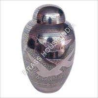 Brass URN Engraved  Nickel plated