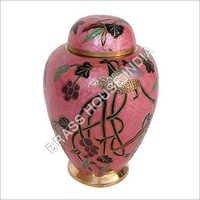 Embossed Brass Cremation Urn