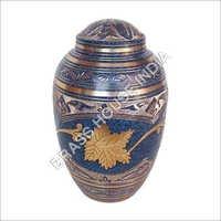 Brass Urn Hand Engraved
