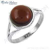 Graceful Garnet Gemstone Silver Ring