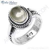 HOT Luxury Crystal Gemstone Silver Ring