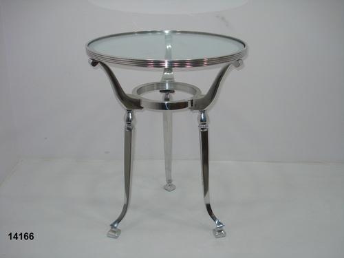 Glass Top Aluminium Centre Table